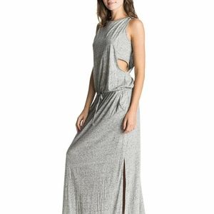 Roxy California Promises Maxi Dress S Heather Gray